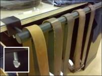 Belt Merchandiser Bar C-clamps