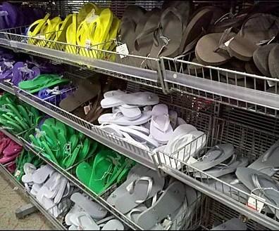 Flip Flops in Endless Basket