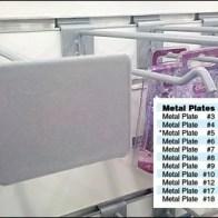 Square Granit Metal Plate Scan Hook Plus Sizes