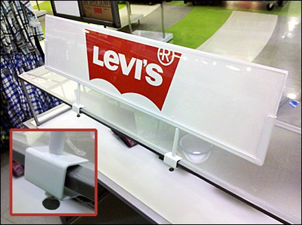 Levi's Sign Clamp Close-to-the-Edge