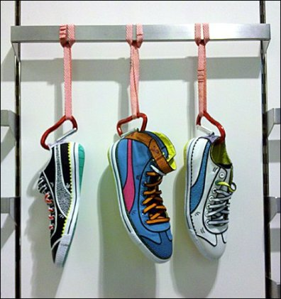 Carabiner Clipped Cartoon Shoes
