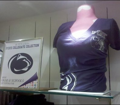 Pink Goes Blue And White with Penn State Logo Clothing