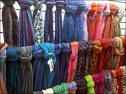 Hand Tied Scarves, Same Fixture, Different Look