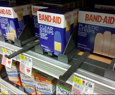 Manual Feed in First Aid as Retail Merchandising Fixture
