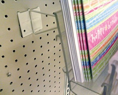 Pegboard Extender for Card Rack