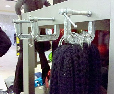 C-clamp Shelf Edge Scarf Holder