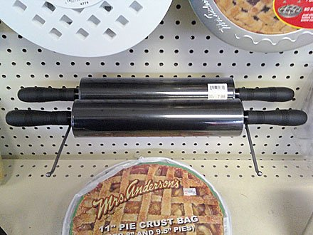 Display-Hook-as-Rail Rolling Pin Merchandising
