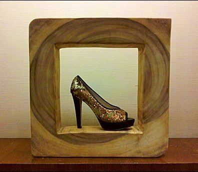 Wooden Stonehedge for Shoe Worship