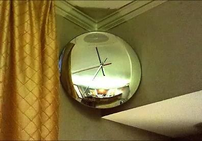 Convex Mirror As Wall Clock