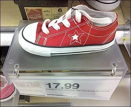 Childrens Shoe Shelf Extender Detail