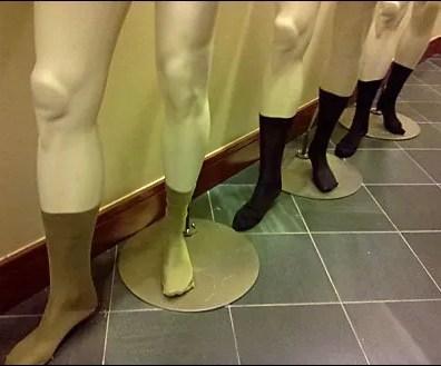 Mannequins for socks