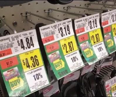 Promo-Bib Tags on All Wire Hooks