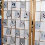 Shoji Screen Earring Display