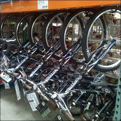 Bicycles in Warehouse Club