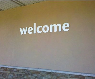 Welcome Sign Outdoor