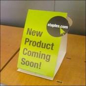 Staples New-Product Shelf Tent