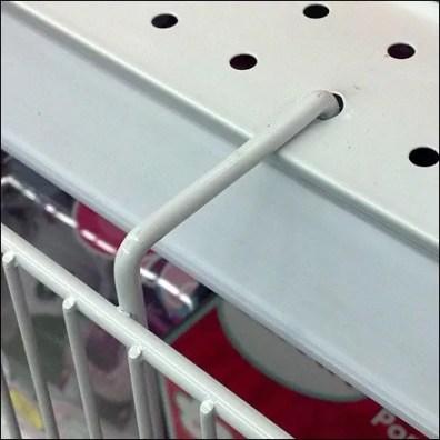 Shelf Edge Wire Basket Detail