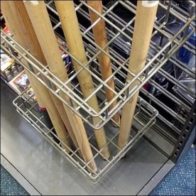 Stickball Bat Rack Detail