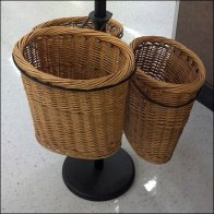 French Bread Wicker Baskets Detail