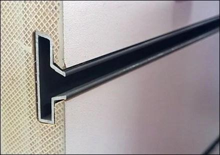 Slatwall Cutaway Reveals Insert