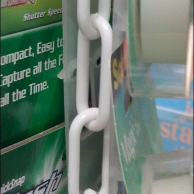 Plastic Chain Extends Strip Merchandiser