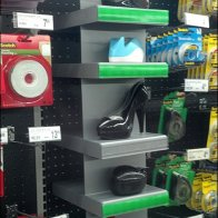Stapler as Shoe point of purchase Display