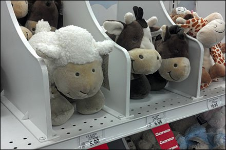 Plush Toy Shelf Dividers in Retail