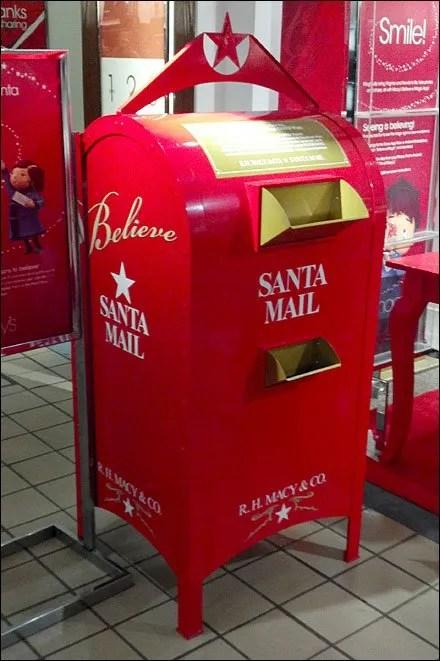 Macy's Santa Mailbox In Store