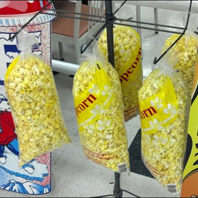Popcorn Merchandised by Hook
