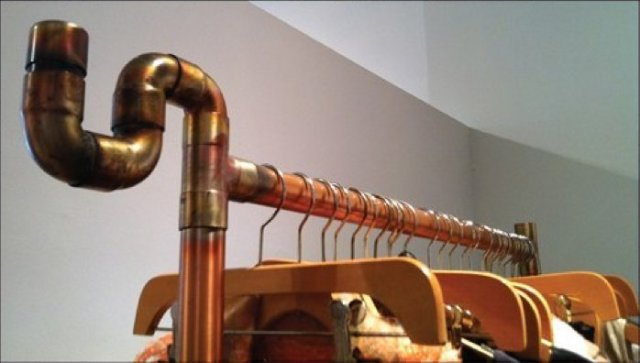 Copper Tubing as Store Fixture