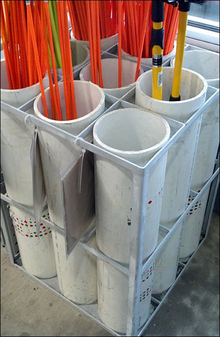 PVC Quivers As Driveway Marker Retail Rack