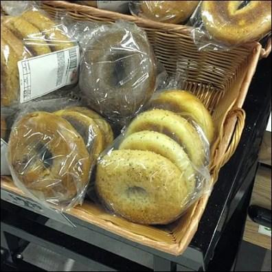 Bagels in Wicker Baskets CloseUp