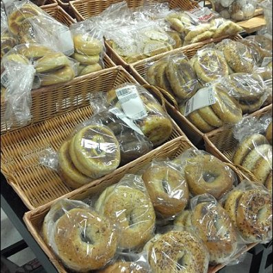 Bagels in Wicker Baskets Main