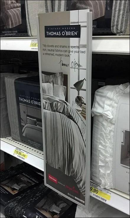 Vertical Shelf Sign Thumbscrew Mount
