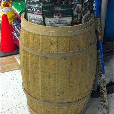 Full Wood Barrel Bulk Merchandising Main