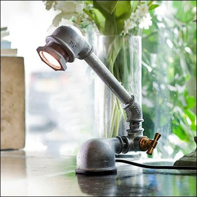 Kozo Iron Pipe Lamp Closeup