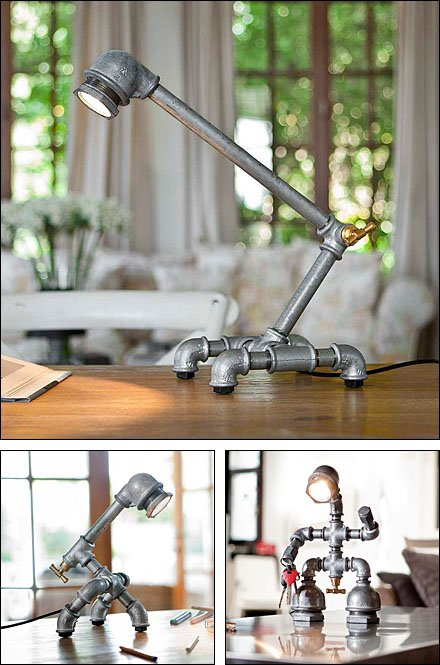 Industrial-Chic Iron Pipe Lights