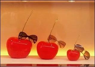 Vuitton Cherry Sunglasses Closeup