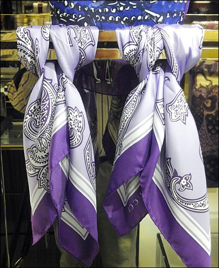 Scarf Knots In Visual Merchandising