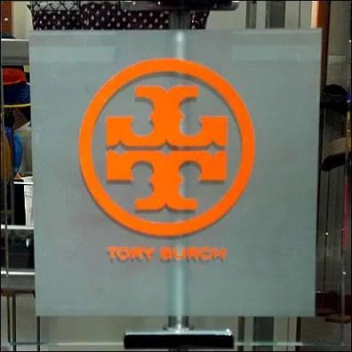 Tory Burch Dayglow Flourescent Logo Closeup