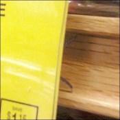 Wood C-Channel Plastic Talker