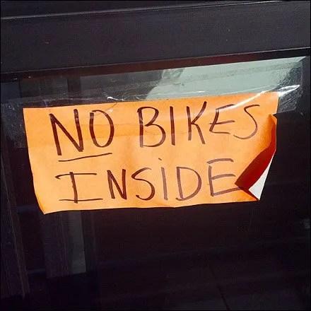 No Bikes Inside Store Main