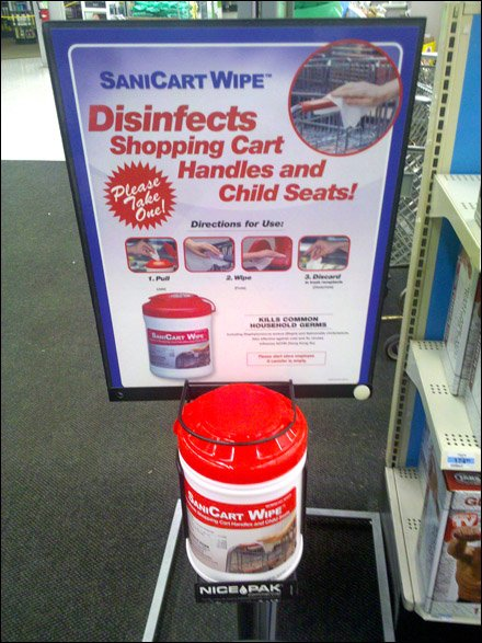 SaniCart In-Store Sanitizing Promotion
