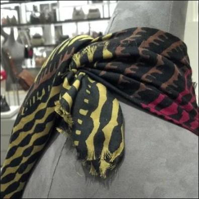 Burberry Scarf Knot Closeup