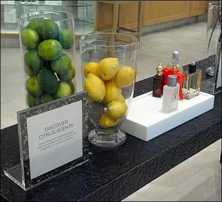 Fresh Fruit as Perfume Prop