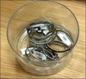 Bangles Glass Bucket Closeup