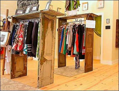 Shutter Door Clothing Racks Main