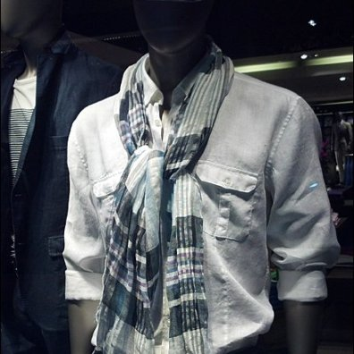 How Men Tie a Scarf Knot Overall
