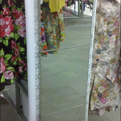 Over-The-Top Full Length Mirror Wire