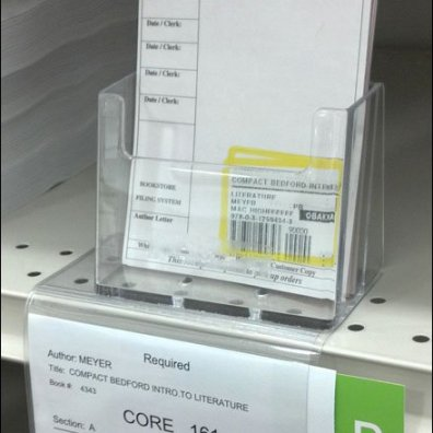 Shelf Edge Pick Cards Closeup